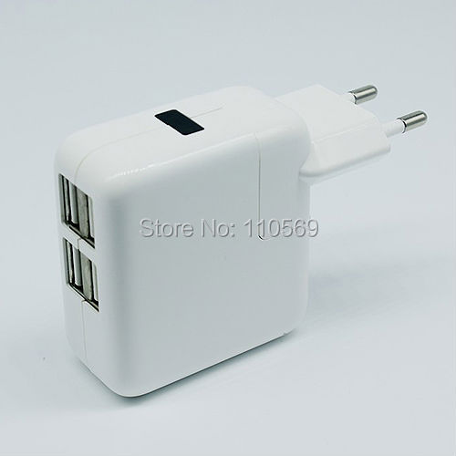 Free shipping 4 USB Ports US/EU Plug Home Travel Wall AC Power Charger Adapter For Samsung Galaxy S4 S3 iphone 4 5S 5C ipad 2/3(China (Mainland))