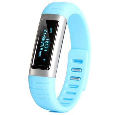 Waterproof Bracelet Bluetooth Smart Clock Burn Calories Accurate Calculate for Activity Steps Weight loss Exercise Partner Blue(China (Mainland))