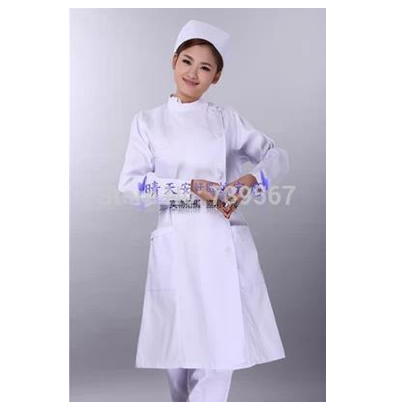 uniformes hospital nursing scrubs medical clothing lab coat White/doctor nurse overalls Medical/women work wear blouses fit(China (Mainland))