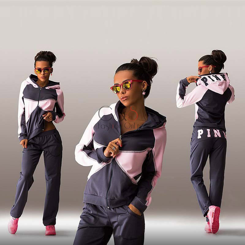 Women Casual Hoodies Tracksuit Sportswear Hoody 2 piece Set Jogging Suits Sport Suit Sweatshirt+Pants Autumn Femme TracksuitsОдежда и ак�е��уары<br><br><br>Aliexpress
