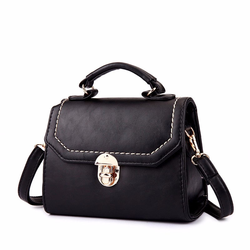 Retro Lock&Flap Closure Bag Korean Style Vintage Women Small Handbag Vintage Shoulder Bag PU Leather Casual Crossbody Bag