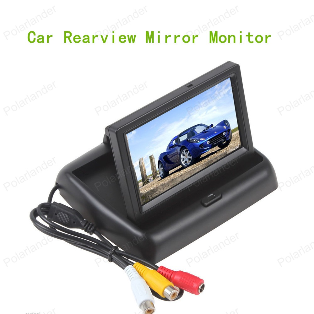 hot sell 480x 272 4.3 Inch Car Parking Monitor HD Rear View Mirror Monitor with Car reverse backup Camera reversing priority(China (Mainland))