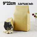 9 22cm 3 54 8 66 100Pcs Kraft Paper Bags For Gifts Cookie Packaging Bags Food