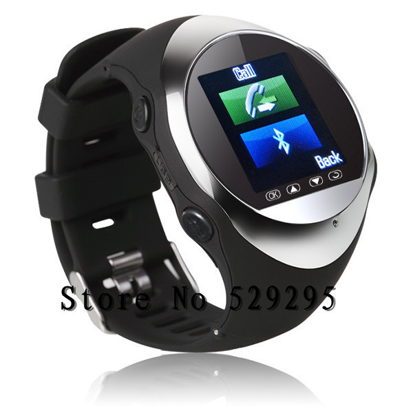 Hot-selling New arrival PG88 Bluetooth watch personal Sport &Travel Security Monitor SOS GPS Tracking,Support MP3/4 player(China (Mainland))
