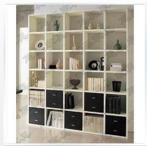 Brief bookcase with drawer bookshelf partition cabinet bookcase closet antique frame shelf