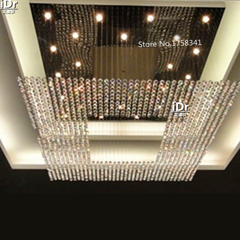 Large lighting crystal chandelier string big chandelier lighting high quality Hotel Lighting 100% quality guarantee(China (Mainland))