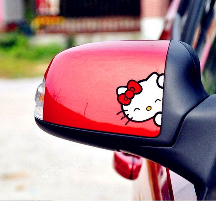 Wholesale hello kitty car decals sticker personalized for Housse de voiture hello kitty