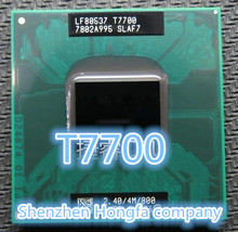 Free Shipping For lnte CPU laptop Core 2 Duo T7700 CPU 4M Socket 479 Cache/2.4GHz/800/Dual-Core Laptop processor(China (Mainland))