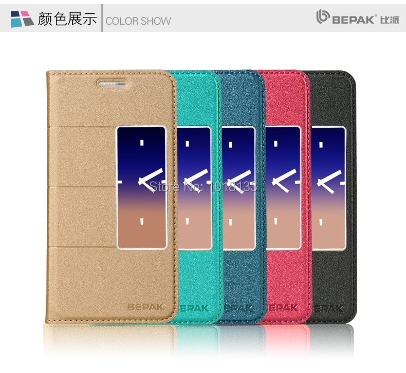 BEPAK Huawei Honor 6 Flip Cover Leather Case Honor6 Protective Gift Screen Protector - Mobile Phone Accessories Home store