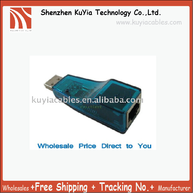 Free Shipping+New USB RJ45 Lan Ethernet 10/100 Mbps Network Adapter Card/usb lan card W/Retail package and driver (Blue,black )