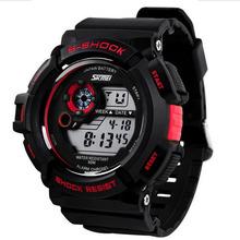 Skmei deporte ocasional impermeable cuarzo relojes hombres luxury brand men ' S reloj S choque G de moda Led Digital reloj militar