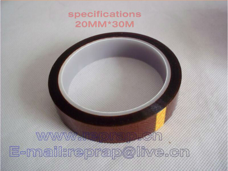 20mm The reprap 3d printer high temperature polyimide adhesive tape