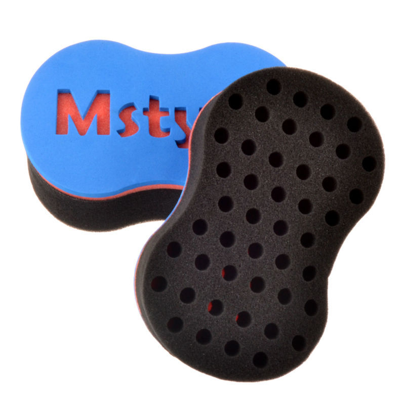 New 50Pieces/Lot magic twist hair sponge,hair curl sponge brush for natural hair,afro coil wave dread sponge brushes(China (Mainland))