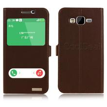 Retro Genuine Leather Flip Stand Cover Cases For Samsung Galaxy J7 J700 J700F Smart Mobile Phone Case & Touch screen Window