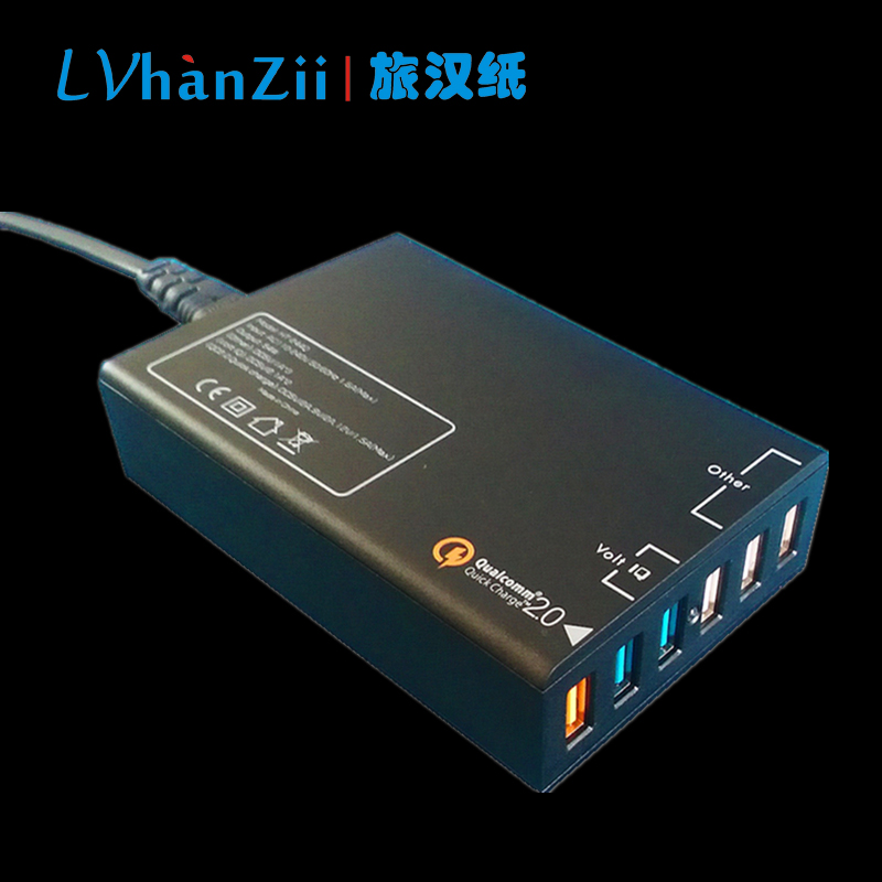 6 Port USB Desktop Mobile Phone Charger Travel Home Office Quick Charge 2.0 54W 12V/1.5A 9V/2A 5V/2A EU US Smart Wall Carregador(China (Mainland))