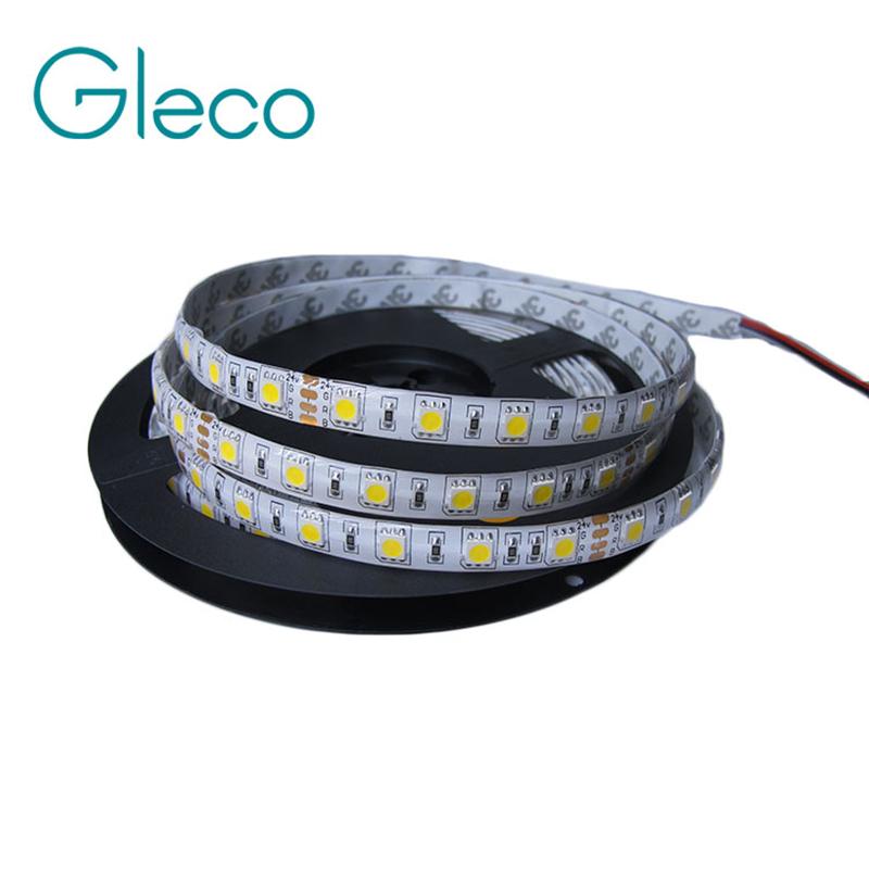 DC24V 5050 LED Strip IP65 waterproof LED strip 5050 60LEDs/m 5M white/warm white/ 5050 RGB Free shipping(China (Mainland))