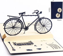 3D Pop Up Greeting Cards Handmade Bicycle Happy Birthday Thank You Christmas Halloween Greeting Cards KT0935(China (Mainland))