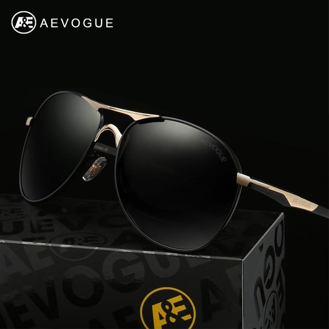 Aevogue поляризованных солнцезащитных очков мужчин новые медь кадр классический модной поляроидный стимпанк с коробкой UV400 AE0370
