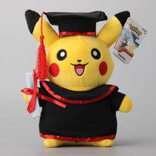 """NEW Pokemon Pikachu Cosplay Stuffed Dolls Cute Rilakkuma Graduate Fitting Gift  Plush Toys 11"""" 27CM(China (Mainland))"""