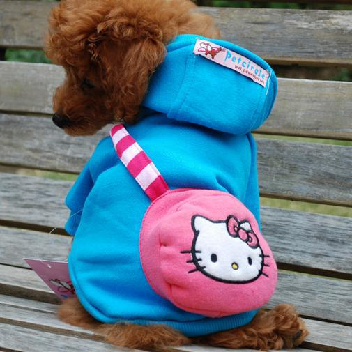 2015 Hot Sale High Fashion Hello kitty pet coat winter dog coat Christmas coat LPC112201(China (Mainland))