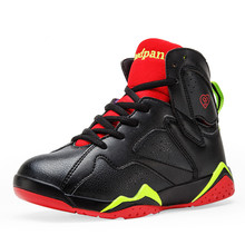 Big Boys Basketball Shoes Shockproof PU Kids Sneakers Running Walking Chaussure Basket Enfant Fille Outdoor Sport Shoes Online(China (Mainland))