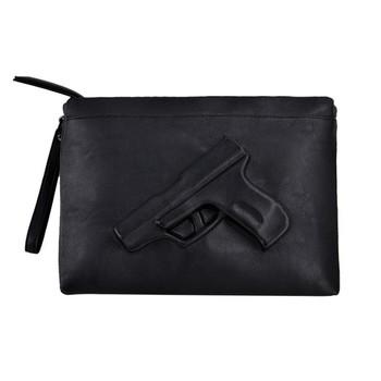 Бренд Vlieger и вандам женщины сумка почтальона сумочки горячие пистолет мешок 3d мультфильм мешок пистолет сумки мода день клатч сумки на ремне сумки черный сумка конверт