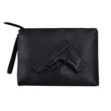 Brand Vlieger & Vandam Women hot gun bag 3d cartoon bag pistol bags style fashion day clutch shoulder bag handbag