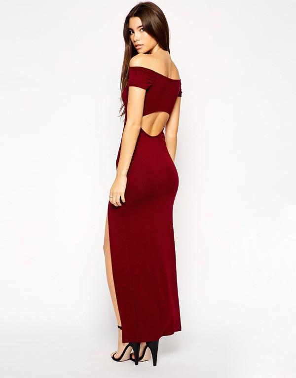 maroon floral dress  Forever21