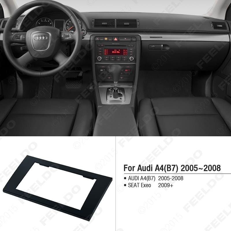 Car 2DIN Radio Stereo Fascia Trim Panel Frame Installation Mount Adapter Kit For AUDI A4(B7)2005-2008/SEAT Exeo 2009+ J-5037<br><br>Aliexpress
