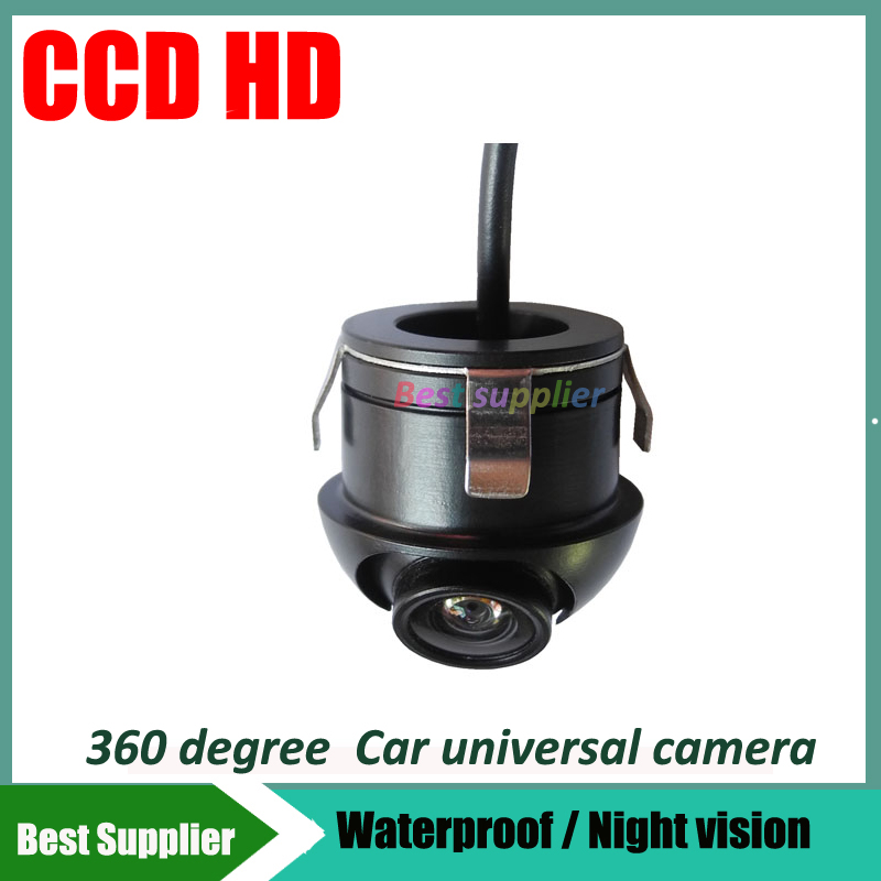 car parking Camera 360 Angle Rotation Hole hide installation Car CCD Side front rear left view View camera(China (Mainland))
