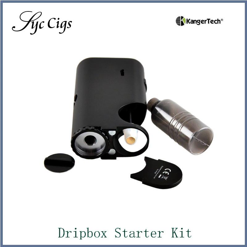 ถูก เดิมKanger Dripboxชุดเริ่มต้นที่มีSubdrip 7มิลลิลิตรความจุถัง60วัตต์Dripmod DripboxชุดKangertechบุหรี่อิเล็กทรอนิกส์5ชิ้น