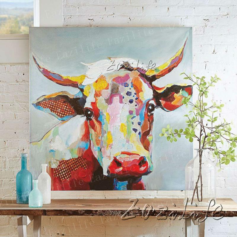 commentaires vache art peinture faire des achats en. Black Bedroom Furniture Sets. Home Design Ideas