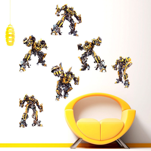 HUGE BUMBL/EBEE Deformation Robot Autobots Decal Removable WALL STICKER Decor Art A-UK Decals(China (Mainland))