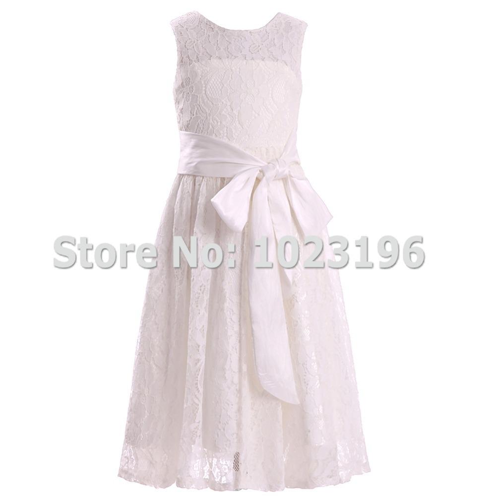 fashion ivory flower girl dresses