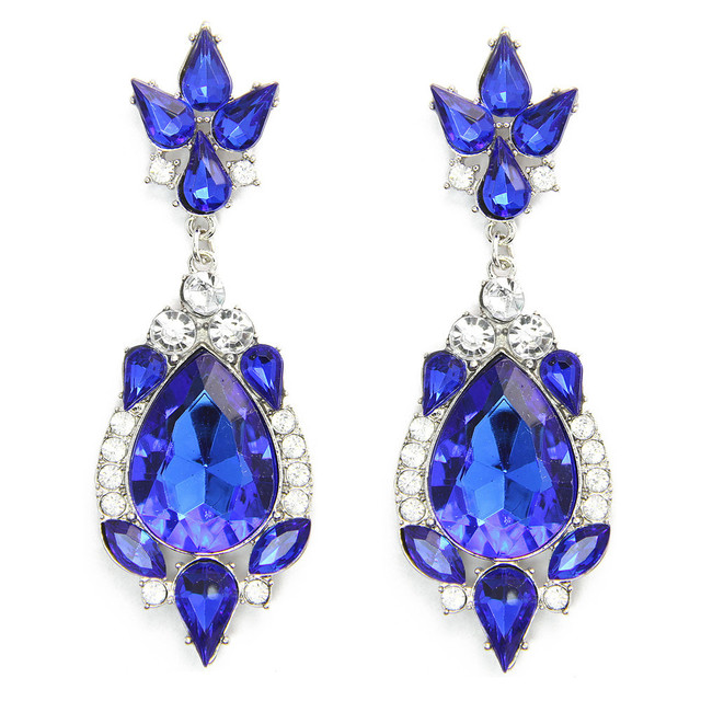 Винтажный серьги-капельки лето стиль синий камень себе серьги для женщины Brinco Pendientes CE187