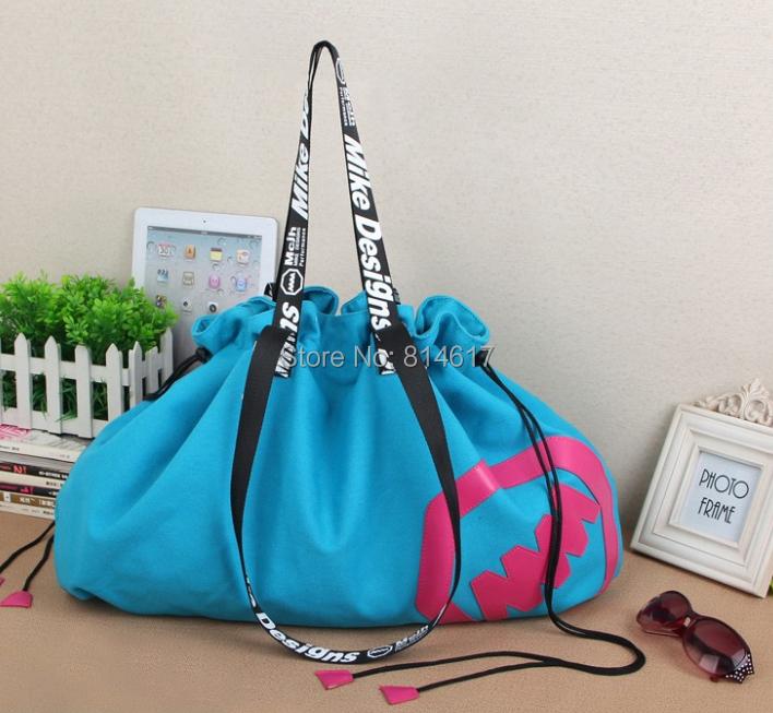 Hot sale girl's colorful large capacity message bag canvas fabric big casual street bag women's cross body handbag cheap online(China (Mainland))
