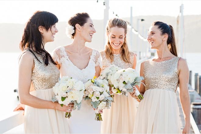 Gold Sequin Bridesmaids Dresses Gold Bridesmaid Dresses