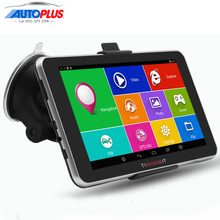 7 inch Capacitive Car GPS Navigation Android 4.4.2 Bluetooth WIFI MT8127 Quad Core 16GB Vehicle gps navigator Navitel Europe map