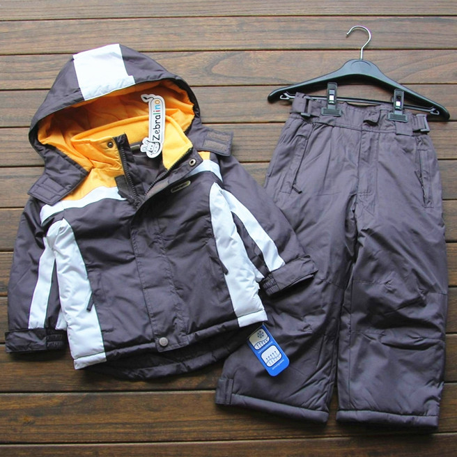 hot sell Small childten ski suit boys winter Outdoor waterproof cotton padded thick warm jacket pants