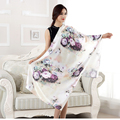 High Fashion Scarves Women Vintage Autumn Large Scarf Echarpe Foulard Female Shawls and Scarves Silk 175
