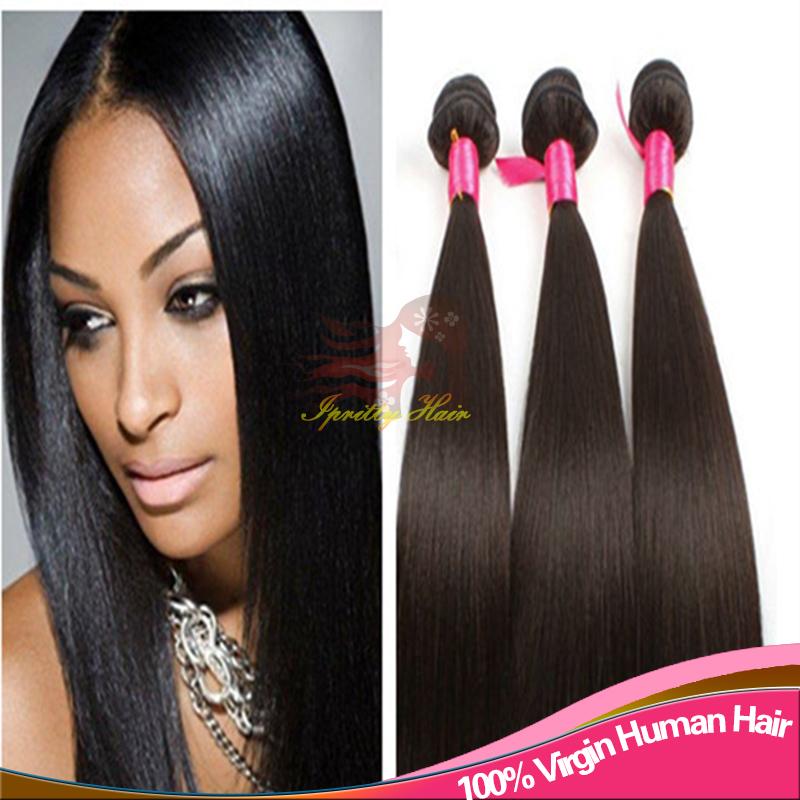 Brazilian Yaki Human Hair Grade 7A Natural Color Light Yaki Straight ...