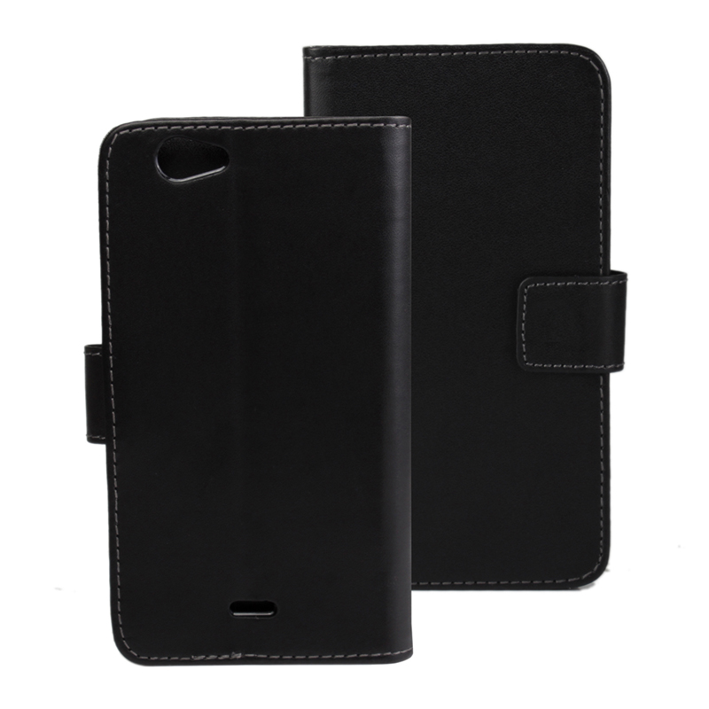 30 pcs/lot Card Slot Flip 100 Grain PU Leather Stand Wallet Case Cover Wiko highway signs