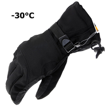 New man Winter Ski sport waterproof double gloves black -30 degree warm riding gloves snowboard Motorcycle gloves Free shipping