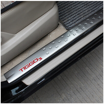 High quality!new 2014 CHERY Tiggo 3 Welcome pedal Stainless steel door sill threshold stickers fit for Tiggo 3!Free shipping!<br><br>Aliexpress
