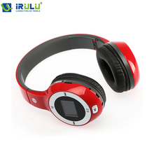 New Red Folding Stereo Headphone Earphones Sport MP3 Player FM TF Card Slot LED 2015 Hottest(China (Mainland))