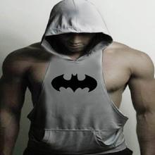 2016 Skull Hoodies Golds Bodybuilding Stringer Gym Vest Hoodie Fitness brand clothing Tank Top Men Clothing Pullover Hoodys