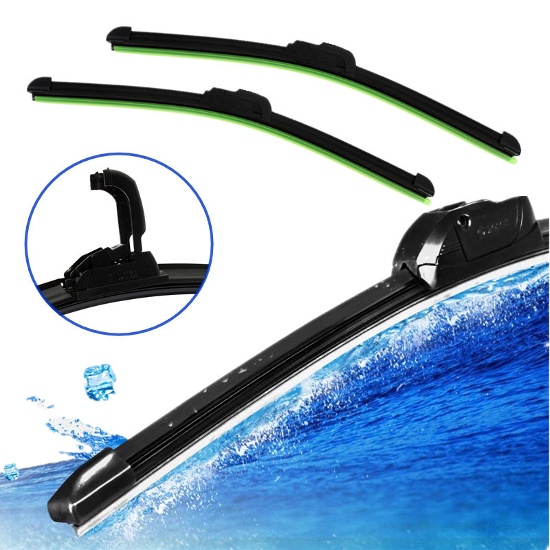 High Quality Brand New Car Flat U type Frameless Bracketless Rubber Windshield Windscreen Wiper Blade