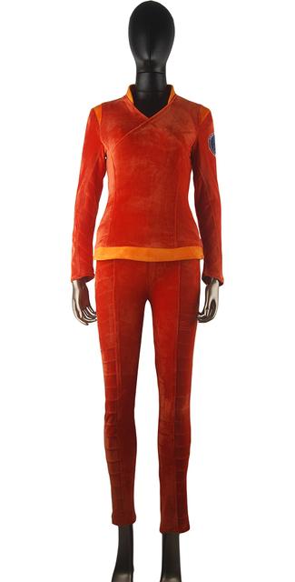 Star Trek Enterprise Commander T'Pol Uniform Outfit Halloween Cosplay Costume Women Girls Christmas Gift