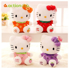New arrival sitting height 20cm hello kitty plush toys hello kitty  toys doll for children HT95600MU(China (Mainland))