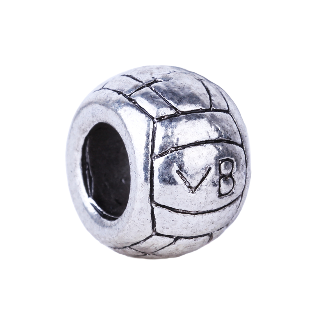2016 New Cute Volleyball Beads Charms European Silver DIY Bead Fit Pandora BIAGI Bracelets & Bangles Women Jewelry(China (Mainland))